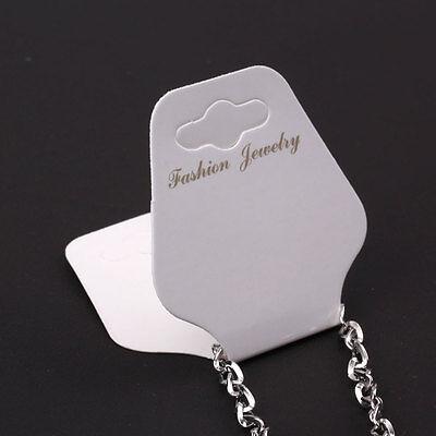 New 100 x Women Lady Girl Necklace Bracelet Jewellery Display Cards White
