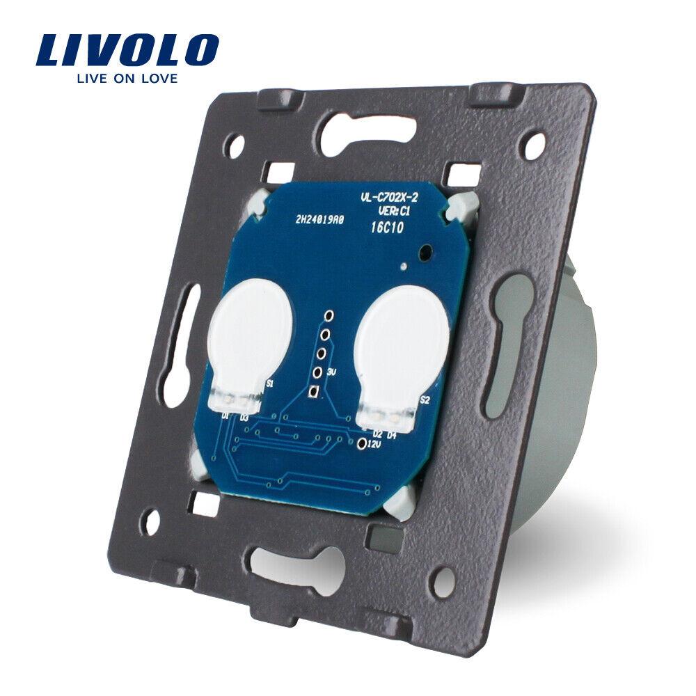Livolo EU Standard Touch Switch 220~250V 2 Gang 1Way Control