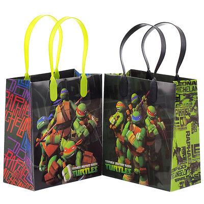 12PCS Teenage Mutant Ninja Turtles Goodie Party Favor Gift Birthday Loot Bags - Ninja Turtles Party Bags