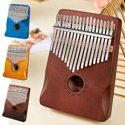 17 Key Kalimba Thumb Piano Finger Mahogany Keyboard Music Instrument Wood Gift