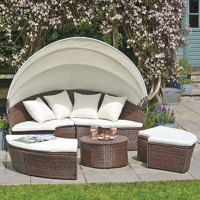 Rattan Outdoor Garden Patio Day Bed Furniture Lounger Sofa