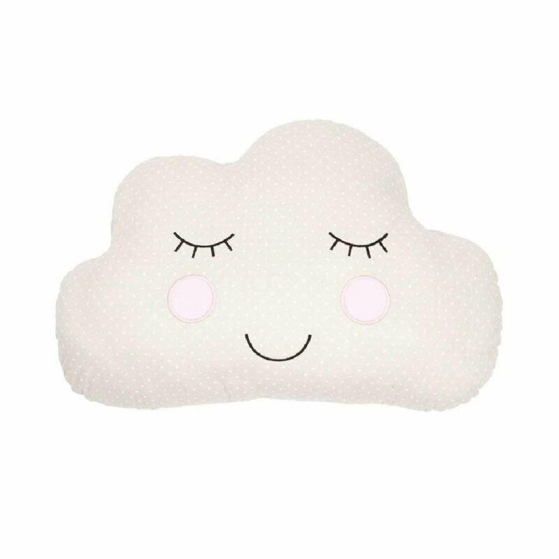 Cloud Face Cushion Beige Childrens Bedroom Decor