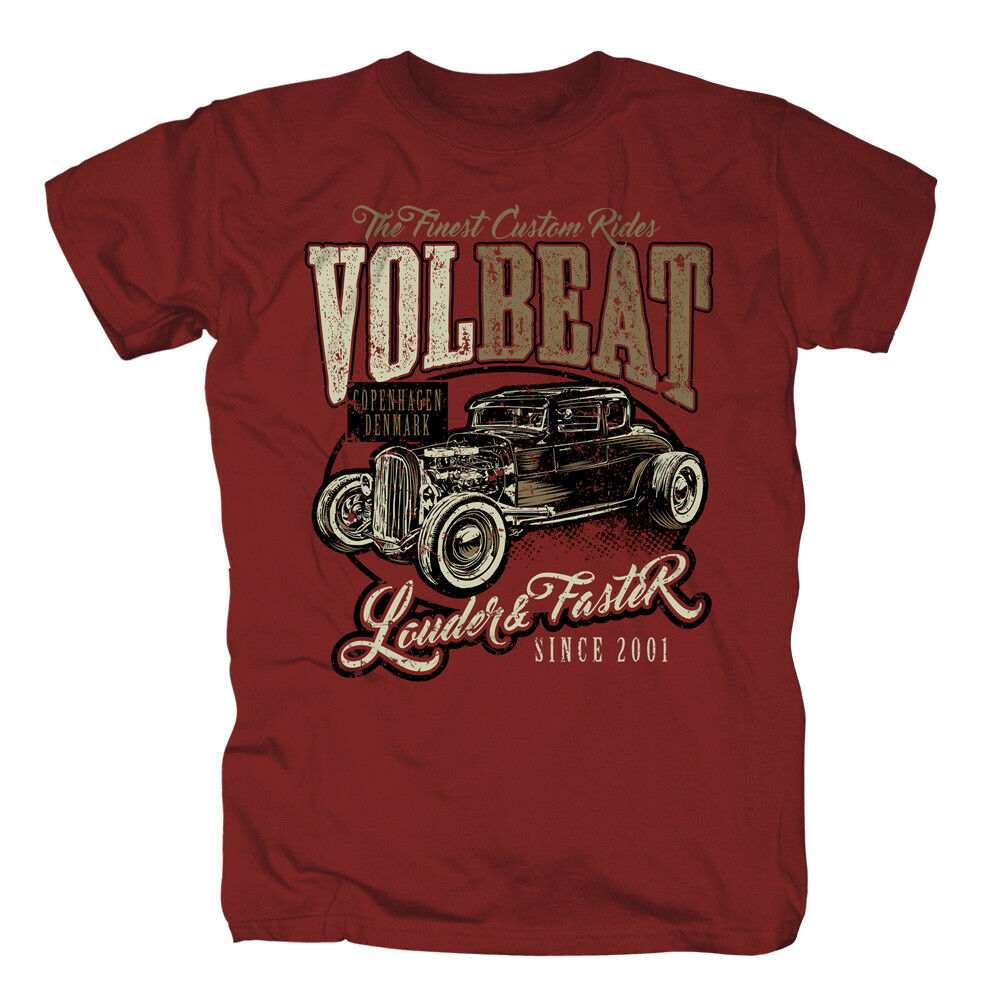 VOLBEAT - Louder & Faster Cardinal Red T-Shirt