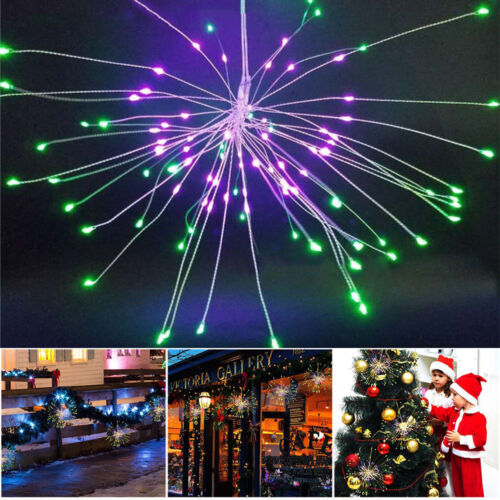 120//180LED Firework Waterproof Copper Wire Strip String Lights Xmas Party Remote