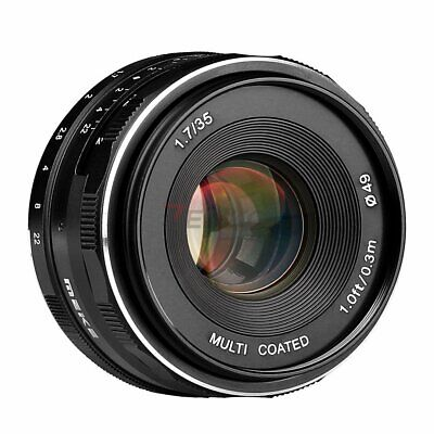 Meike MK-E-35mm F1.7 Large Aperture Manual Focus Lens APS-C Fr Sony E Mount NEX3