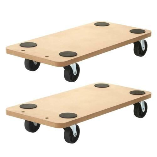 "2 Pack 23""x11.5"" Dolly Moving Cart Platform 550LB Rectangle Wood Mover Platforms"