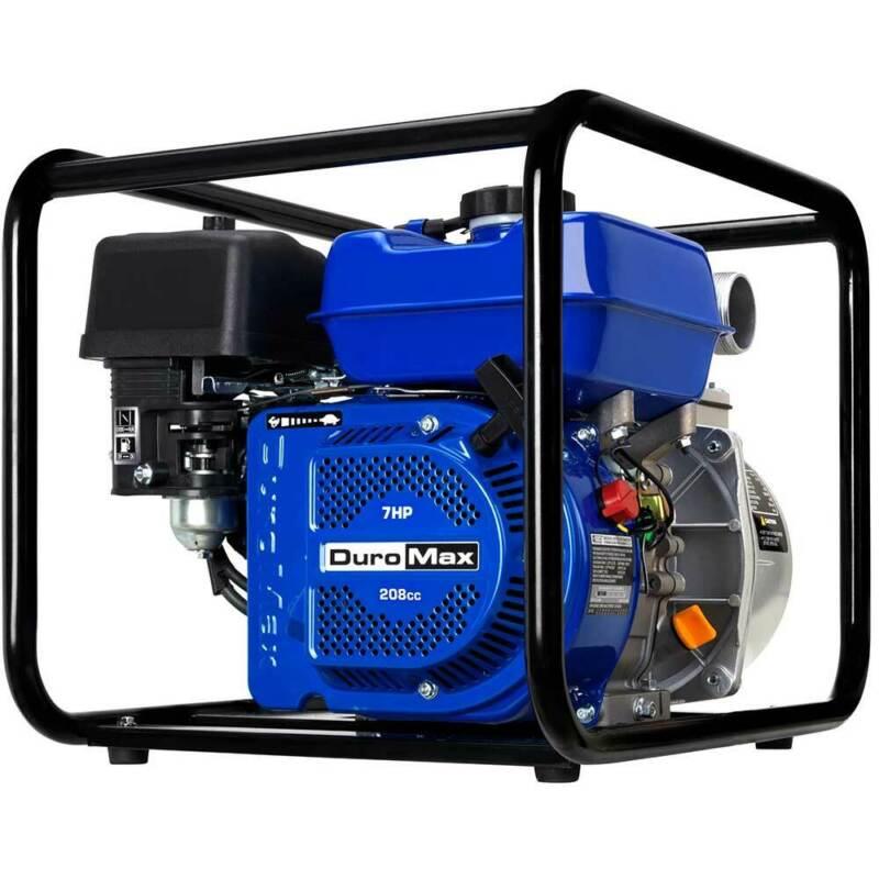 "DuroMax XP652WP 208cc 158-Gpm 3600-Rpm 2"" Gasoline Engine Portable Water Pump"