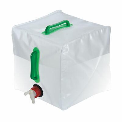 Plegable PVC Agua Camping Jardinería Fluido Contenedor + Grifo Grande 20 Litro