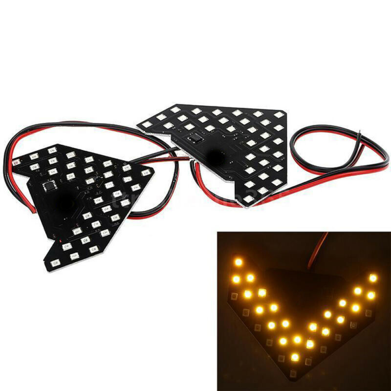 Amber 33smd Sequential Led Arrows Panel Car Side Mirror