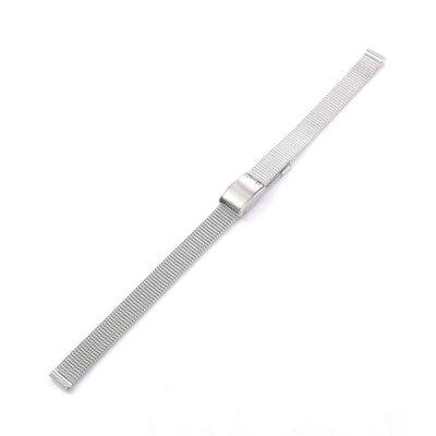 (Silver Stainless Steel Metal Mesh Watch Band Hook Buckle Strap Bracelet 8mm 10mm)