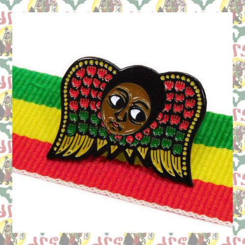 Ethiopian Angel [drs] 2D Pins Badge Ethiopia  Lion of Judah Haile Selassie I