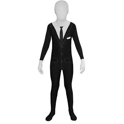 Slender Man Costume Kids (Slenderman Morphsuit - Child)