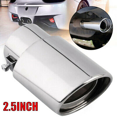 Car Chrome Stainless Steel Rear Bevel Exhaust Pipe Tail Muffler Tip Accessories