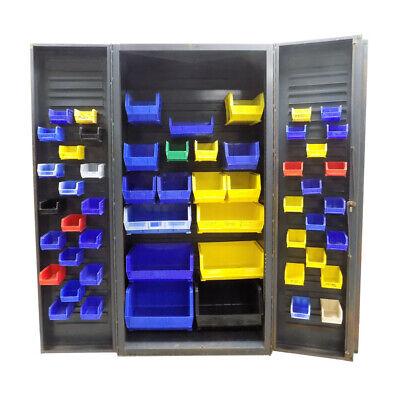 Heavy Duty Steel 36 X 24-12 X 74 Strong Storage Cabinet 2-door 54 Akro Bins