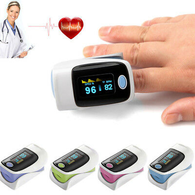 OLED Finger Pulsoxymeter SPO2 Puls Messgerät Sauerstoff Blut Mini