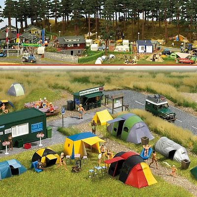 Ho Busch Campground Scene With Tents Kit   6044