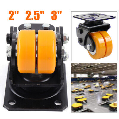 3 Sizes Agv Shock Absorber Driven Wheel Heavy Swivel Plate Caster Polyurethane