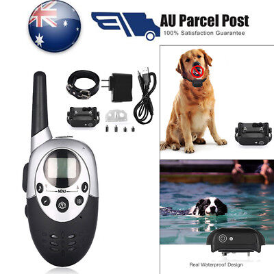 1000M Rechargeable ECollar LCD Electric Shock Pet Dog Training Remote Control AU