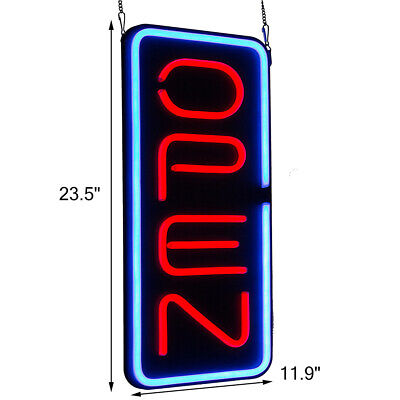 30w Bright 23.611.8 Big Vertical Led Light Neon Open Sign Business Home Decor