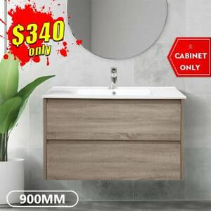 Bathroom Vanity 900mm Wall Hung Cabinet Finger Pull Kris *NEW*