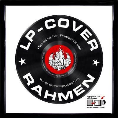 Rahmen für LP-Cover Profil: 15mm Kunststoff 34,5x34,5cm schwarz