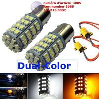 60-SMD 1157 Dual-Color Switchback LED Bulbs (60-White 60-Amber)