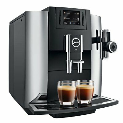 Jura 15097 Self-regulating Coffee Machine E8, Chrome