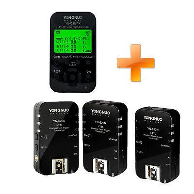 Yongnuo YN-622N-TX+YN-622N 3 Empfänger 1/8000 i-TTL Funkauslöser Auslöser Nikon