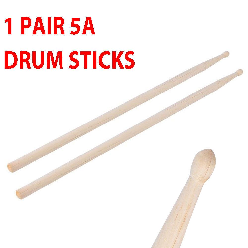 1 Pair 5A Drum Sticks Drumsticks Maple Wood Music Band Jazz Rock NEW