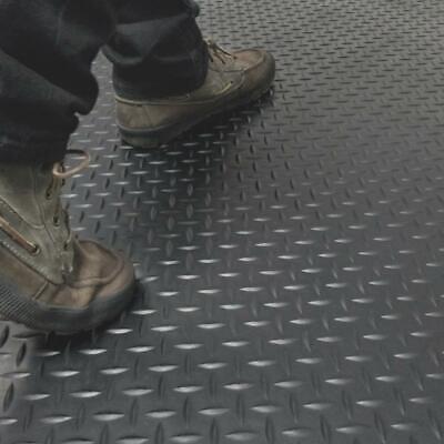 Home Gym Floor Mat Diamond Plate Rubber Roll Garage Golf Cart Truck Bed Flooring