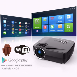 Portable Home Video Mini Projectors HDMI Fully Support 1080P