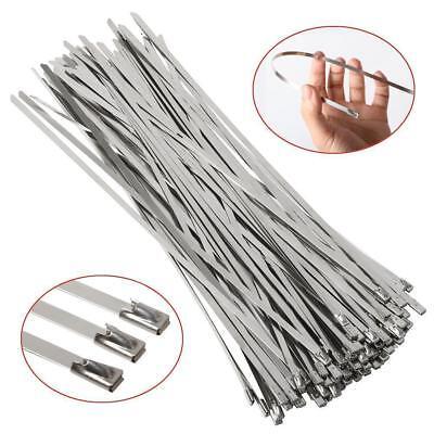 Edelstahl Marine Grade Metall Kabelbinder Kabelbinder Sicherungsdraht 100PCS WS6 (Marine Kabelbinder)