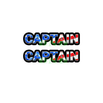 Captain Us Flag Lunch Box Hard Hat Tool Box Usa Helmet Sticker 2 Pack 9 Inch