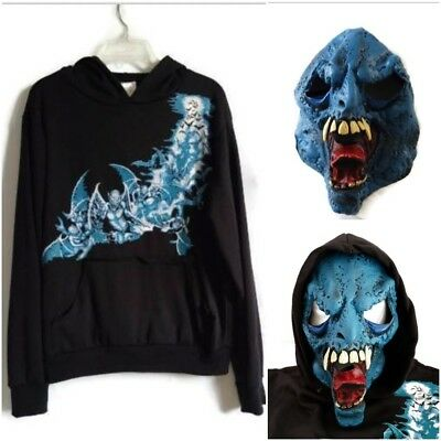 Ghoul Blue Demon Skateboarder Halloween Costume XL 12/14 Hoodie & - Skateboard Halloween Costumes