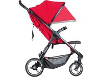 Phil & Teds Smart Buggy – Cherry Red – new with marks