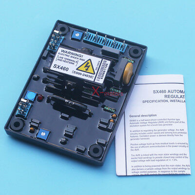 New AVR SX460 Automatic Volt Voltage Regulator For Stamford Generator W/ Manual