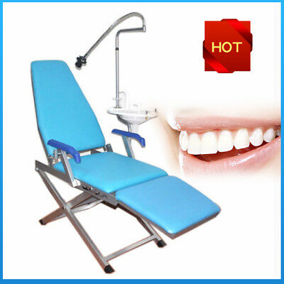 Dental Folding Chair Unit Led Light Water Supply Cuspidor Tray With Led Light