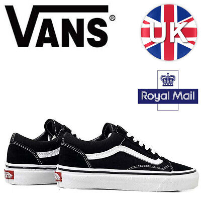 Vans Old Skool Black White Skate Shoes Trainers - Unisex for Men and Women New