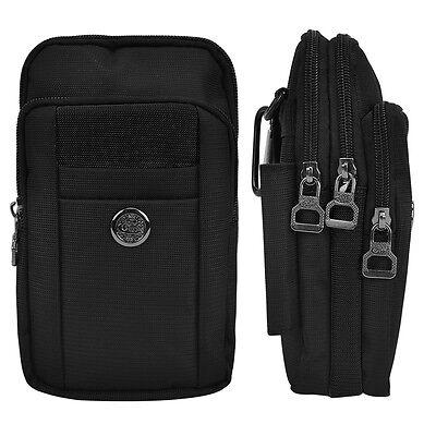 black nylon shoulder bag pouch case