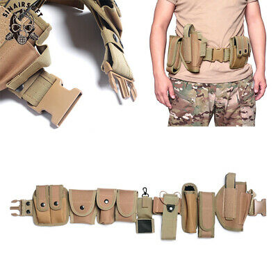 Tactical Police Security Guard Modular Law Enforcement Equipment Duty Belt Tan