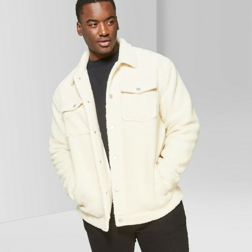 Men's Big & Tall Long Sleeve Sherpa Trucker Jacket – Original Use Cream 4XB Clothing, Shoes & Accessories