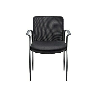 Staples Roaken Mesh Guest Chair With Arms Black 204116