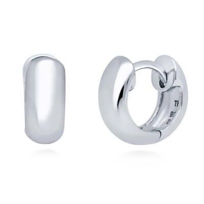 0.5' Hoop Huggie Earrings - BERRICLE Sterling Silver Small Fashion Hoop Huggie Earrings 0.5