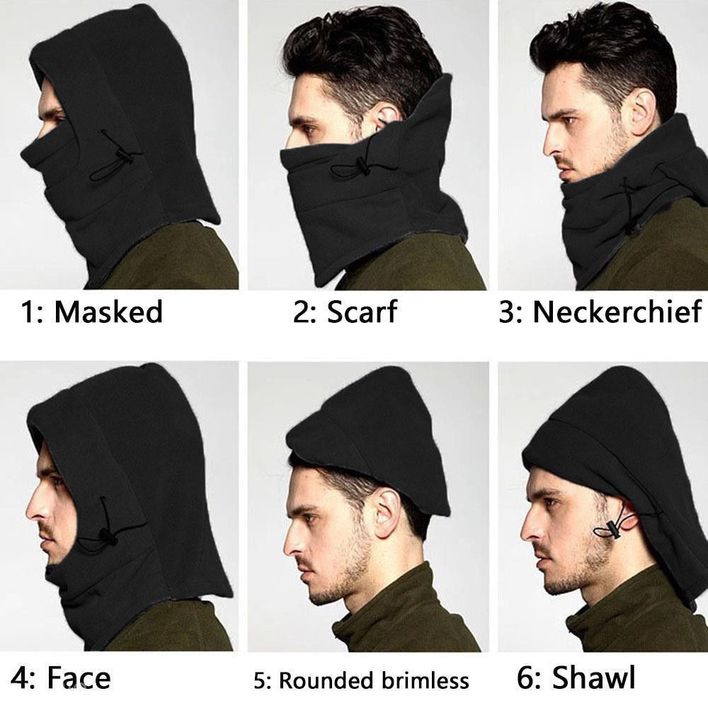 Winter Ski Cover Hat Cap Motorcycle Thermal Fleece Balaclava Neck Full Face Mask Clothing