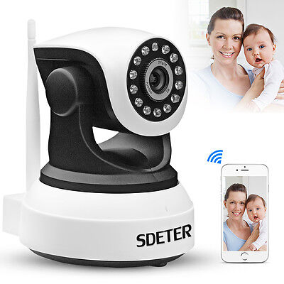 Wireless WIFI CCTV IP Camera Night Vision Pan Tilt 720P Security Network Webcam
