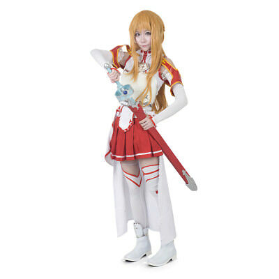 Sword Art Online Cosplay Asuna Yuuki Dress Anime Costume](Womens Costumes Online)