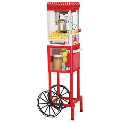 48 in. Vintage Collection 2.5 oz. Red Popcorn Machine with C