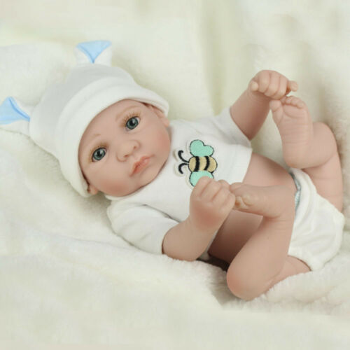 "Handmade 10"" Reborn Doll Vinyl Gift Baby Dolls Lifelike Baby Realistic Newborn"