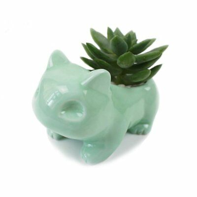 Pokemon Ceramic Flowerpot Bulbasaur Planter Cute Green Succulent Plants