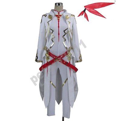 Anime Tales of Zestiria Alisha male white Cosplay Costume Jumpsuits Coat](Anime Male Clothes)